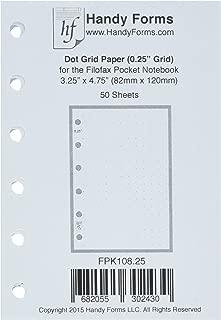 Pocket Size Dot Grid Paper Refill - 0.25