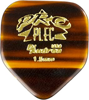 D'Andrea PRO-330 Pro Plec 1.5mm Guitar Pick with Shell Finish (12 Piece, Pointed Square)