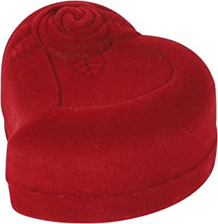 I-MART Heart-Shaped Red Rose Jewelry Gift Box Case for Ring Earring