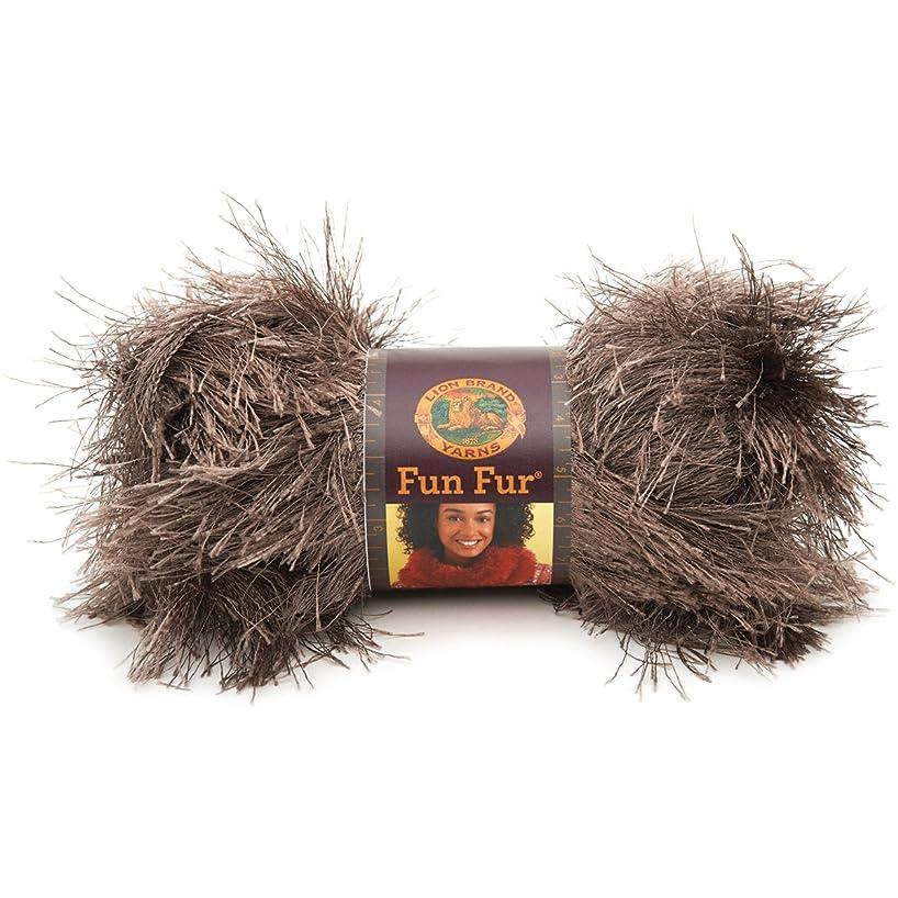 Lion Brand Yarn 320-127 Fun Fur Yarn, Taupe
