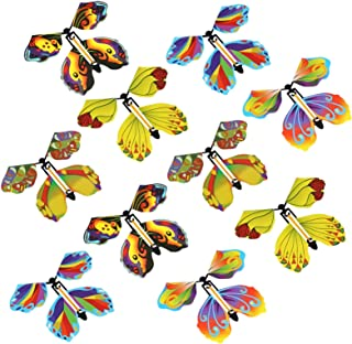 fllyingu Flying Butterfly Colorful Magic Magic Fluttering Niños Butterfly Butterfly Juguetes para Niños 10 Piezas (Color A...