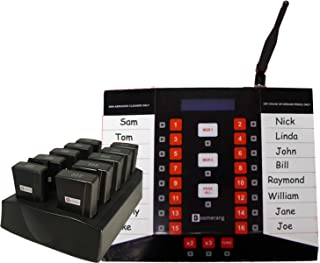 Staff Waiter Pager System Kit with 6 pagers