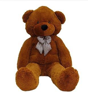 Beauenty Giant Teddy Bear Plush Stuffed Animals for Girlfriend or Kids (Brown-140CM)