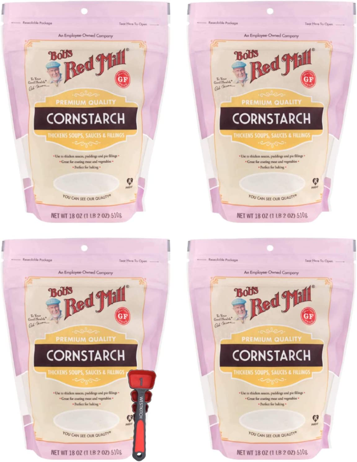 Bob's Red Mill Corn Starch 18 Ounce Bundle with Swivel Measuring