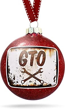 NEONBLOND Christmas Decoration Rusty Old Look car GTO Ornament