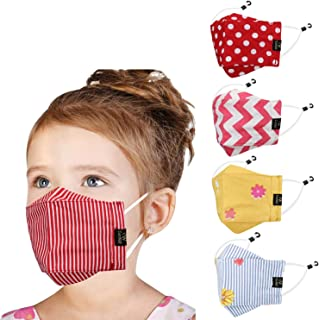 Cenwell Cotton Reuseable Face Mask (Multicolour, Without Valve, Pack of 5) for Kids