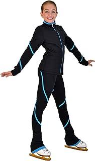 ChloeNoel P76 - Heavy Poly Spandex Pipings Swirl Skate Pants
