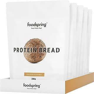 foodspring Pan proteico, Pack de 5 x 230g, (90gr. de proteí