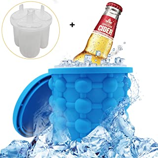 LETIN New Silicone Ice Cube Genie Maker- Trays Molds Ice Bucket Revolutionary Space Saving Ice Cube Maker for Chilling Burbon Whiskey,Cocktail,Beverage