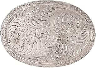 Montana Silversmiths Men's Oval Engraved Western Belt Buckle - 1850