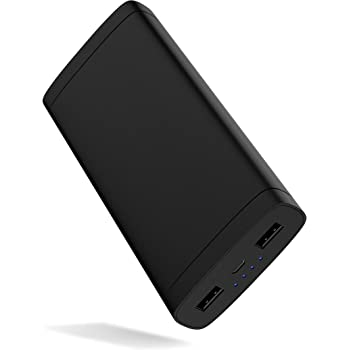 Portable Charger Power Bank Battery - by TalkWorks | 16500 mAh | Cell Phone Backup External Dual USB Power Pack for Apple iPhone 11, XR, XS, X, 8, 7, 6, iPad, Android Samsung Galaxy and More - Black
