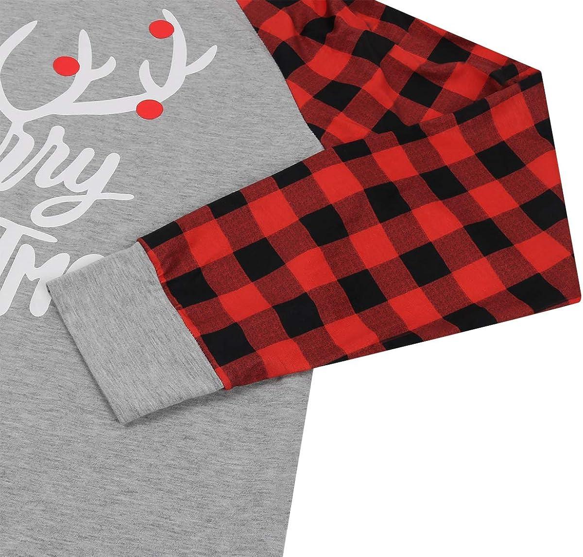 Merry Christmas Truck Tree Graphic Cute Shirt Womens Plaid Splicing Long Sleeve Raglan Tees Baseball Tops