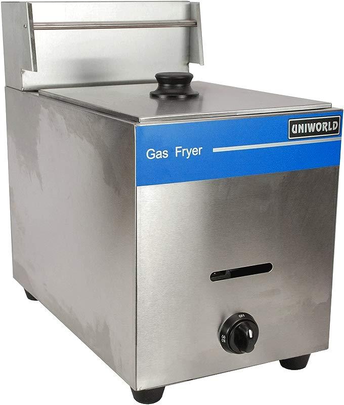 UniWorld Deep Fryer Single Basket Liquid Propane Stainless Steel UGF 71