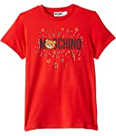 Moschino Kids - Short Sleeve T-Shirt w/ Music Toy Bear (Big Kids)