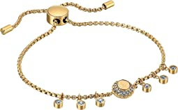 Michael Kors Logo Tone and Crystal Slider Bracelet