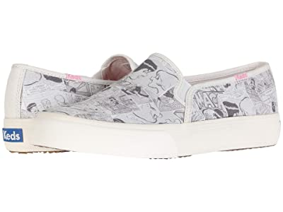 Keds Keds x Betty and Veronica Double Decker Comic (Cream/Black Twill) Women