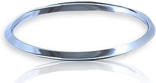 M'VIR Sikh/Punjabi V Shape Kada/Kara Stainless Steel Bracelet for Men/Women Comes with FREE Pouch