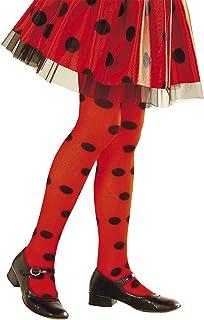Widmann 01244 Strumpfhose Marienkäfer, Mädchen, Rot/Schwarz, 4-6 Jahre