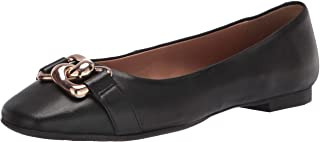 حذاء باليه مسطح حريمي من Aerosoles مصنوع من جلد أسود، مقاس 8.5