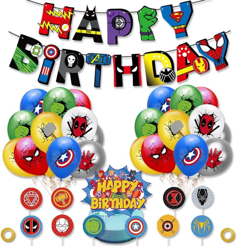 Superhero Birthday Max 56% OFF Balloons Party supreme for Kid Set Supplies