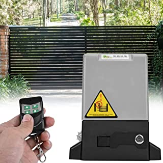Automatic Sliding Gate Opener, 750W Automatic Chain Sliding Gate Opener Roller Gate Opener with Infrared Sensor Driveway Security kit for Home Villa Garden and Commercial(2700lb-4000lb)