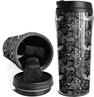 Coffee Mugs Durable Skull and Brass Knuckles Yeti Tumbler Travel Mug Home
