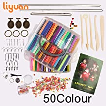 Liyuan 2019 Newest Polymer Clay 50 Colors Oven Bake Clay DIY Gift Set for Child Nontoxic Malleable Toys ,5 Modeling Tools and Kinds of Accessories,Safe and Nontoxic DIY Baking Clay Blocks,Art Clay
