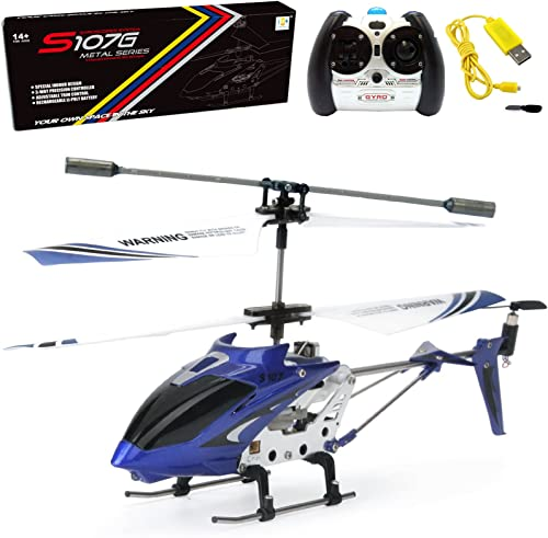 wholesale Cheerwing S107/S107G Phantom 3CH 3.5 Channel outlet sale Mini discount RC Helicopter with Gyro Blue online