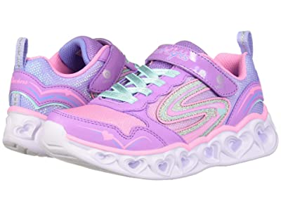 SKECHERS KIDS Sport Lighted Heart Lights 20294L (Little Kid/Big Kid) (Lavender/Multi) Girl