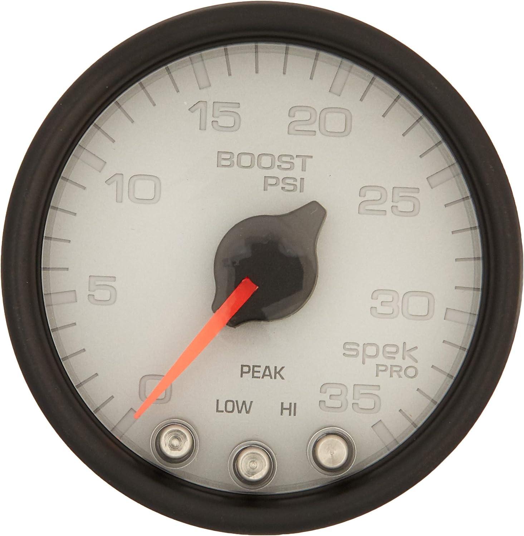 AUTO METER P30322 Gauge Max 83% OFF Boost supreme Spek-Pro Stepper 1 2 35Psi 16