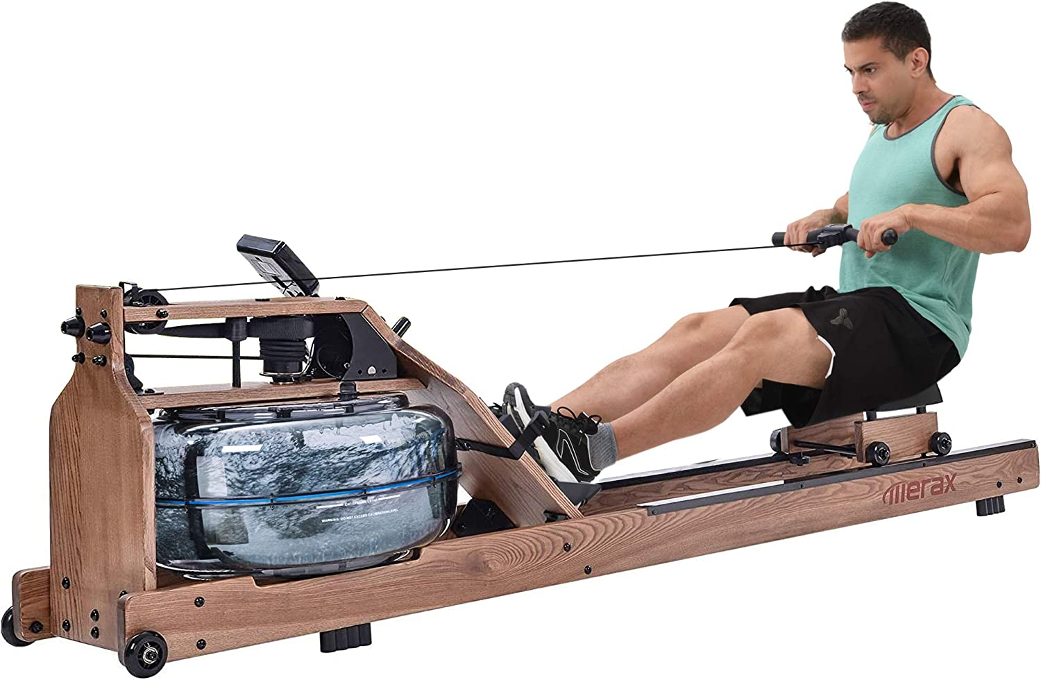 Los Angeles Mall Merax Water Ranking TOP3 Rowing Machine in Monitor Wood with Ash Solid