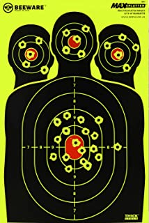 BEEWARE Shooting Targets 12 x 18 Silhouette Reactive Splatter Targets For Shooting (50 Pack)