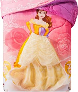 Princess Beauty and the Beast Twin Microfiber Comforter w/Removable Wearable Belle Skirt