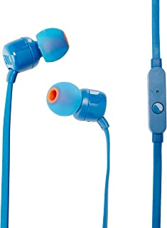 JBL T110 Wired Universal In-Ear Headphone with Remote Control and Microphone - Blue