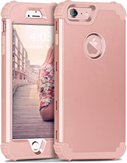 iPhone 6S Plus Case, iPhone 6 Plus Case, BENTOBEN 3 in 1 Hybrid Hard PC & Soft Silicone Bumper Heavy Duty Rugged Shockproof Full-Body Protective Case for iPhone 6 / 6S Plus (5.5 inch), Rose Gold