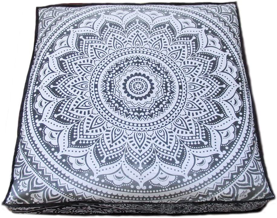 Attraction place Indian Mandala Great interest Floor 5 ☆ very popular Pouf Square Pillow Ottoman
