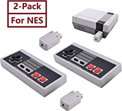 2-Pack NES Controller Wireless.Wireless Game Controller for NES Classic Edition.No-Wired Gamepad Joypad with Receiver Adapter for NES Classic Gaming System Console (Renewed)