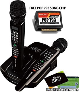 MAGIC SING TAGALOG ENGLISH ET23PRO BUNDLE WITH POP 793 SONGCHIP KARAOKE BAR MOST POPULAR COLLECTION