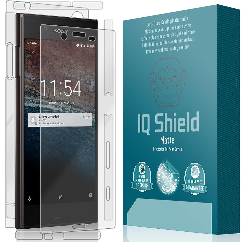 IQ Shield Matte Full Coverage Anti-Glare Screen Protector + Full Body Skin for Sony Xperia XZ Anti-Bubble Film
