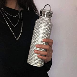 helegeSONG Diamond Water Bottle, Stainless Steel...