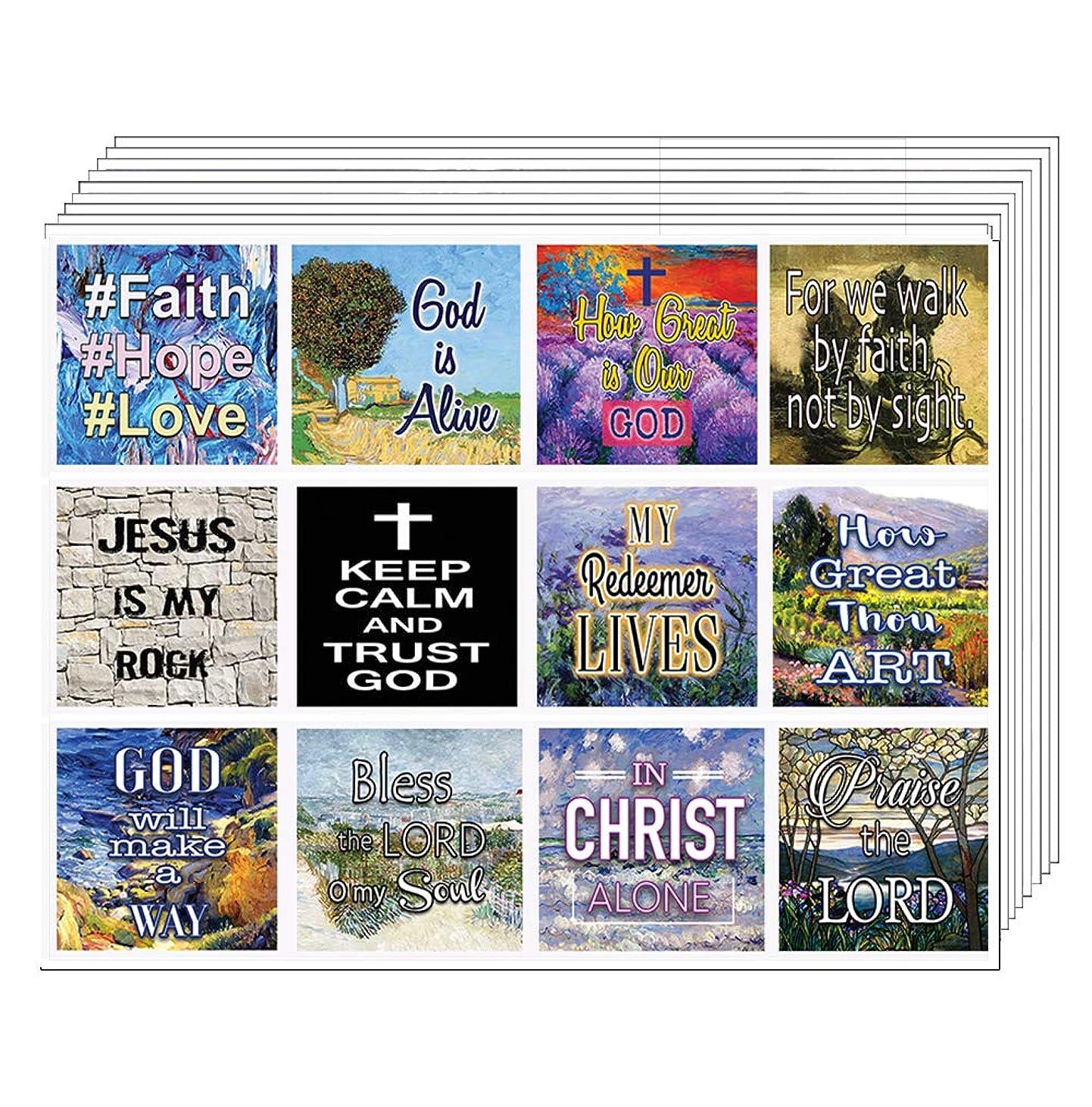 キリスト教聖書の言葉 聖書の言葉 プランナー ステッカー - 20枚