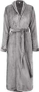 Men/Women Luxurious Plush Kimono Bathrobe with Side Pockets