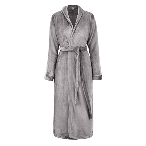 05d63854bf Simplicity Men Women Luxurious Plush Kimono Bathrobe with Side Pockets