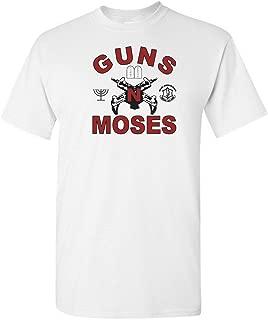 Funny Jewish T-Shirt Guns N Moses XL White