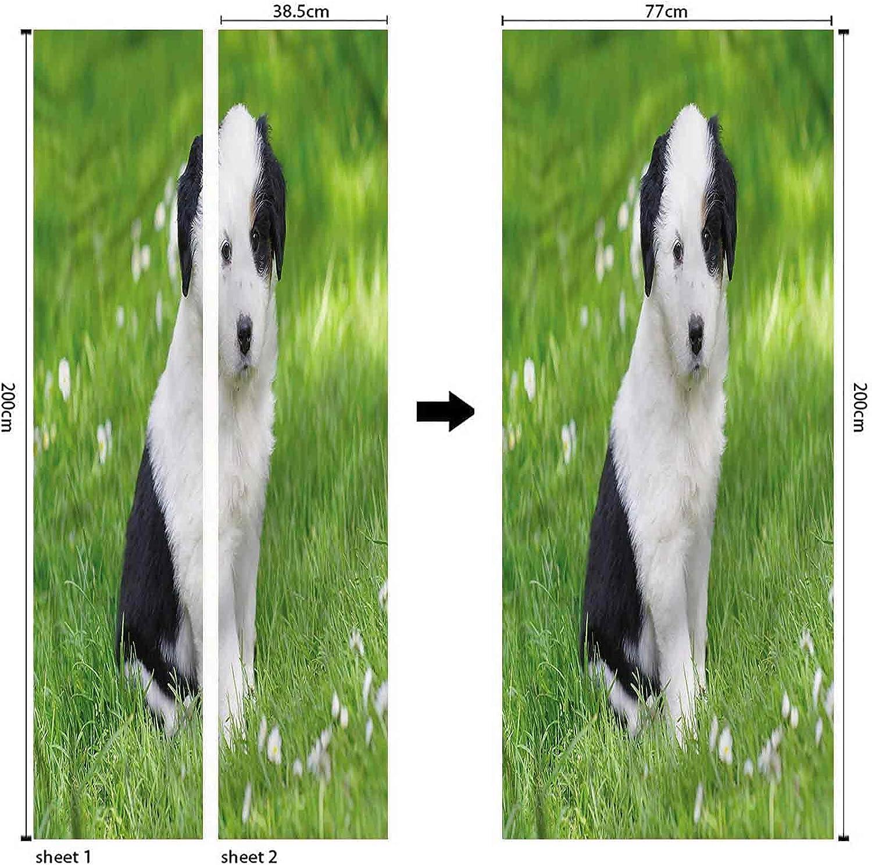 Springtime Custom Stickers Cute Save money Daisy fo Flowers Decals Max 44% OFF Door Dog