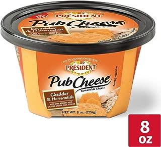 President Cheddar & Horseradish Pub Cheese, 8 oz