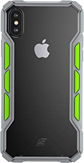 Element Case Rally Drop Tested case for iPhone XR - Light Grey/Lime (EMT-322-195D-04)