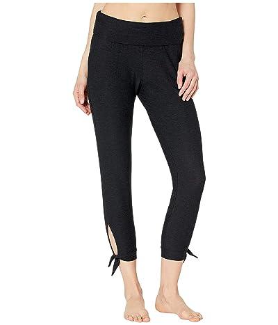 Beyond Yoga Keep It Lightweight and Easy Fold-Over Midi Sweatpants (Darkest Night) Women