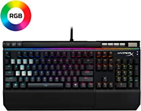 HyperX Alloy Elite RGB - Mechanical Gaming Keyboard - Software-Controlled Light & Macro Customization - Wrist Rest - Media Controls - Clicky - Cherry MX Blue - RGB LED Backlit (HX-KB2BL2-US/R1)