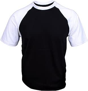 Raglan Short Sleeve Baseball Style T-Shirt Adult Casual Wear